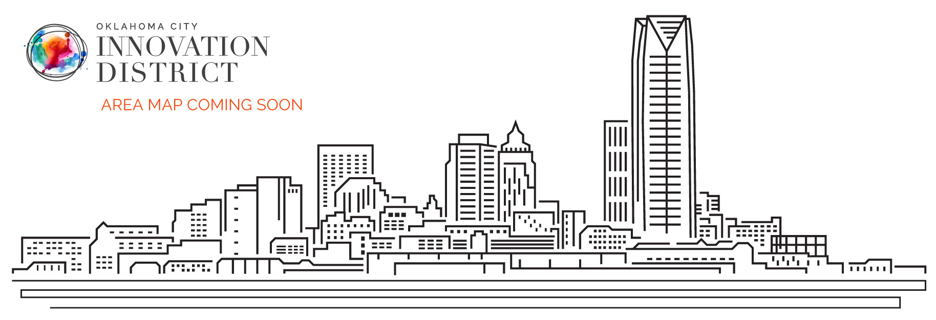 OKC city skyline outline saying new map coming soon.